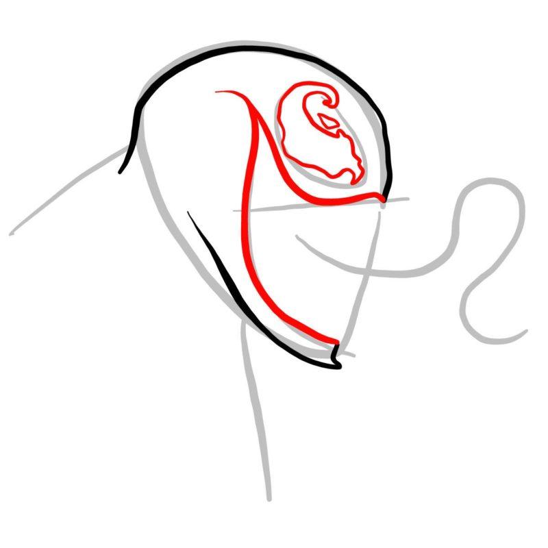 Рисуем голову Венома 3
