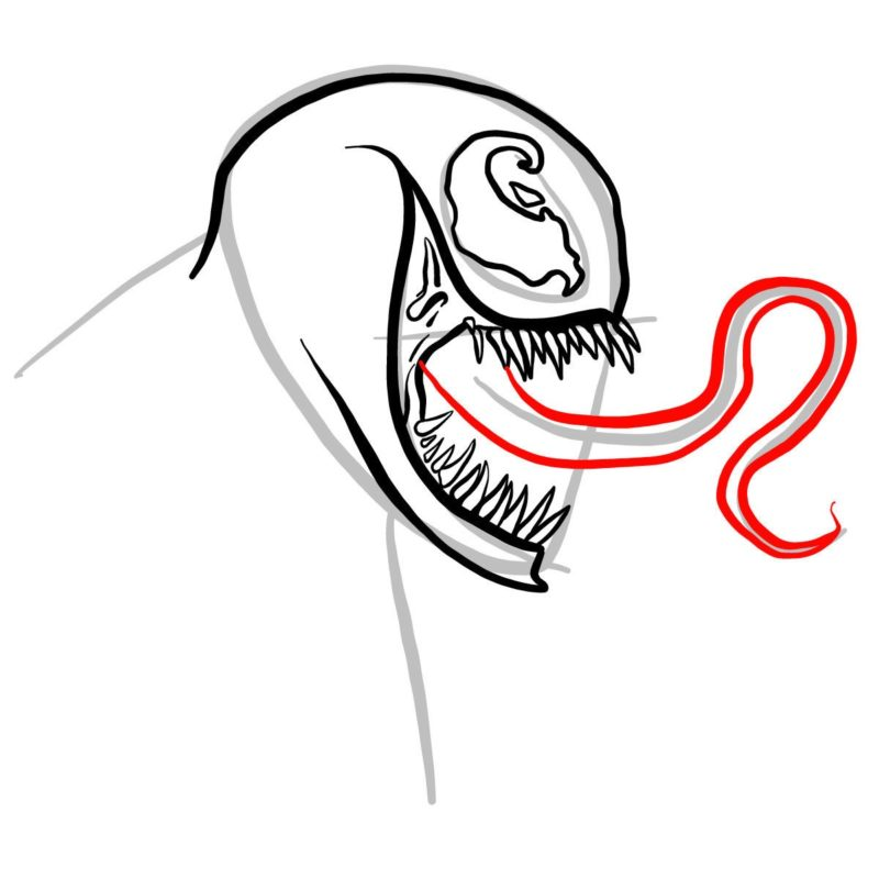 Рисуем голову Венома 7