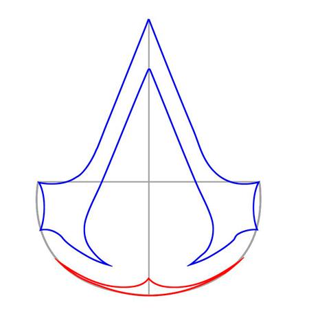 нарисовать знак ассасина из игрыAssasin's Creed 3