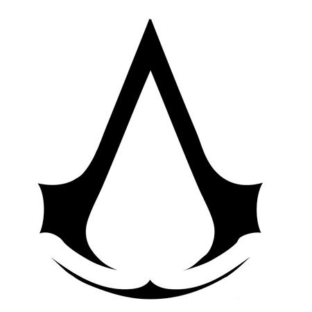 нарисовать знак ассасина из игрыAssasin's Creed 4