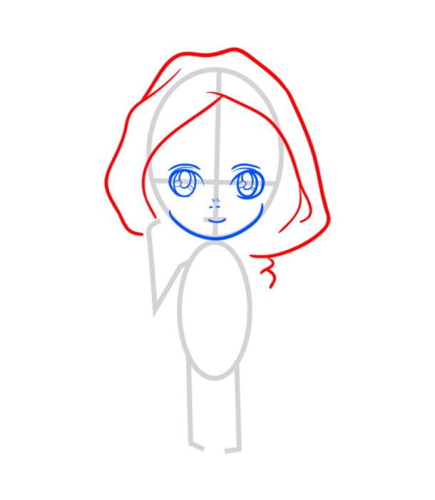 Как нарисовать Армин из аниме 3