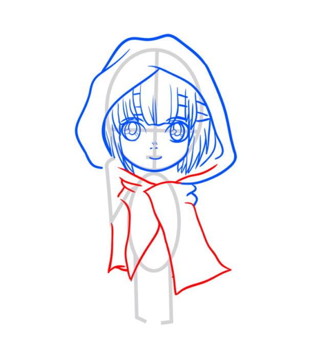 Как нарисовать Армин из аниме 5
