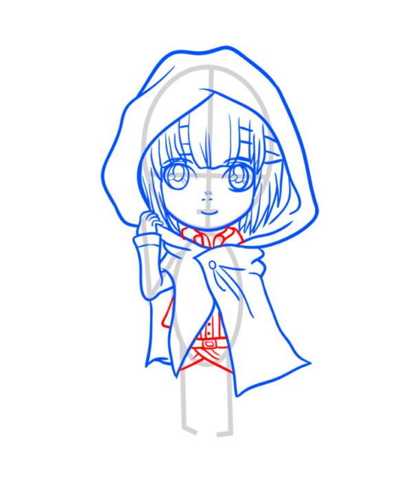 Как нарисовать Армин из аниме 7