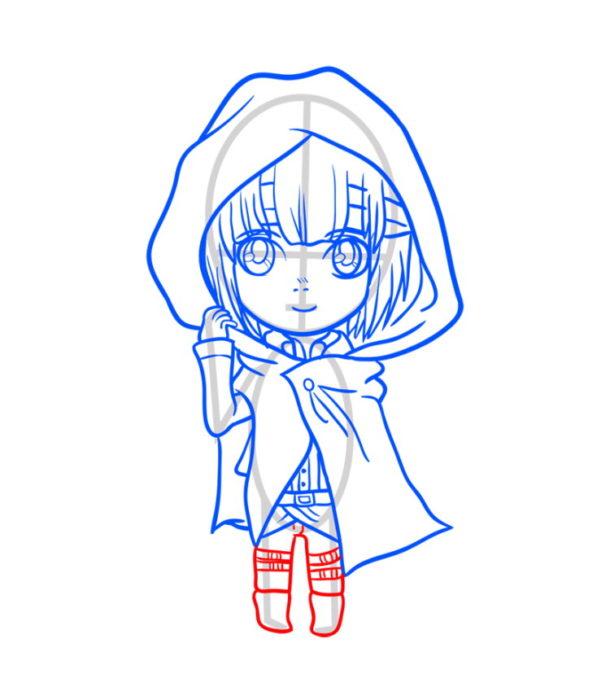 Как нарисовать Армин из аниме 8