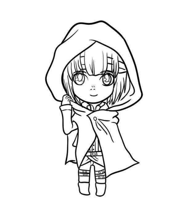 Как нарисовать Армин из аниме 9