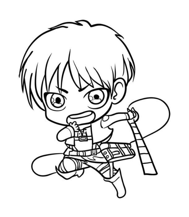 Как нарисовать Эрена из аниме 10