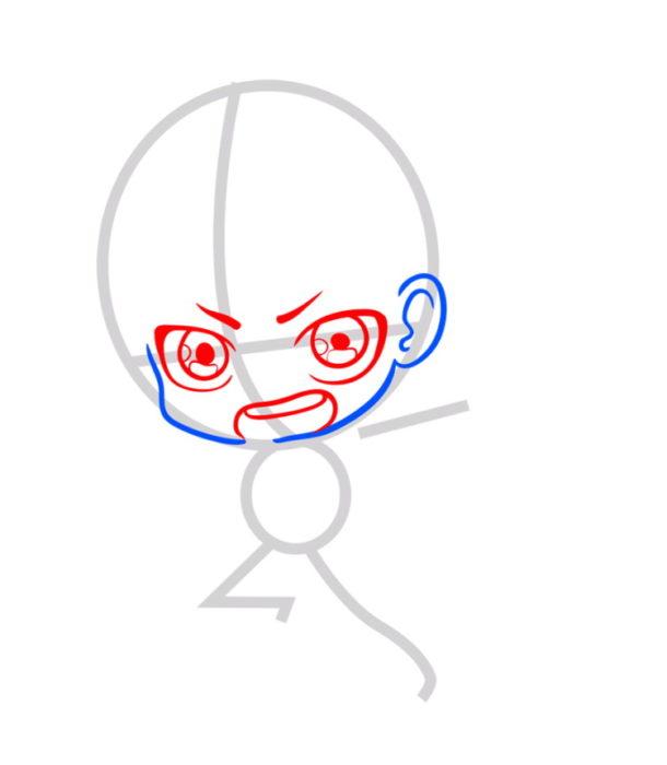 Как нарисовать Эрена из аниме 3