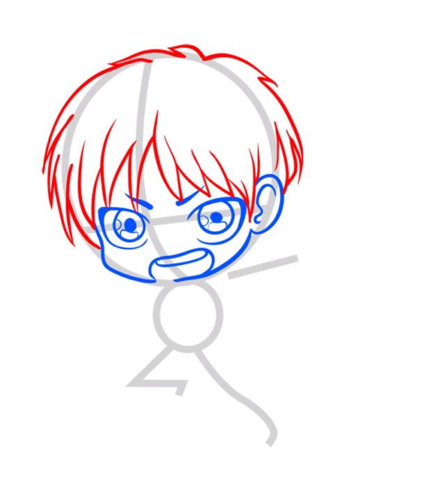 Как нарисовать Эрена из аниме 4