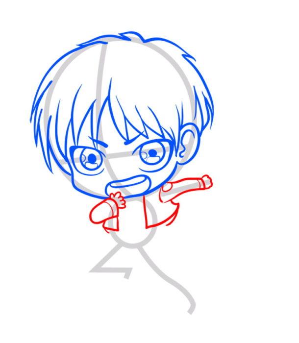 Как нарисовать Эрена из аниме 5