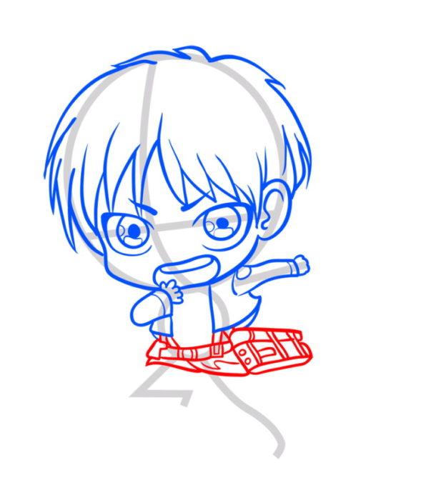 Как нарисовать Эрена из аниме 6