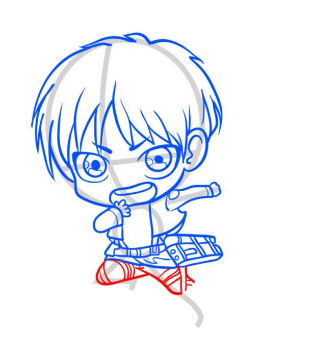 Как нарисовать Эрена из аниме 7
