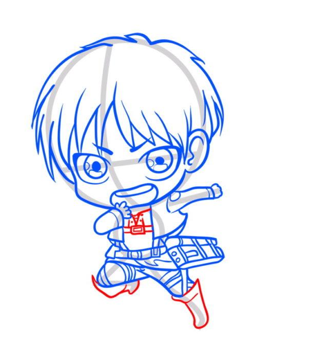 Как нарисовать Эрена из аниме 8