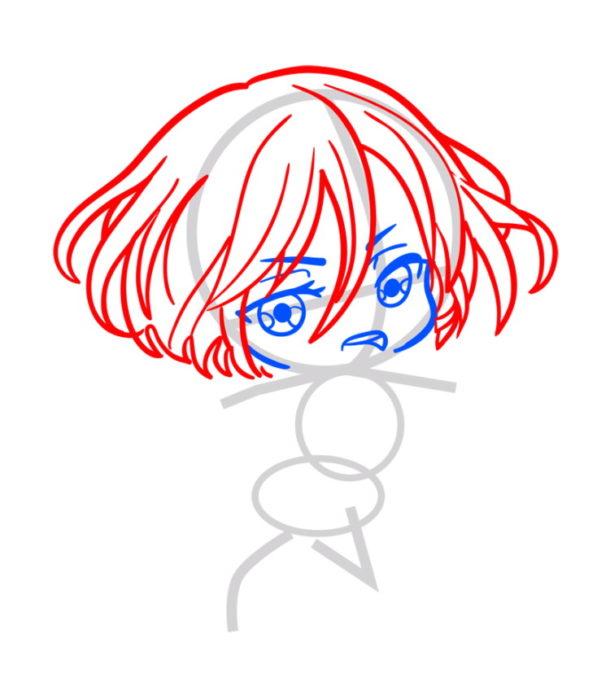 Как нарисовать Микасу из аниме 3