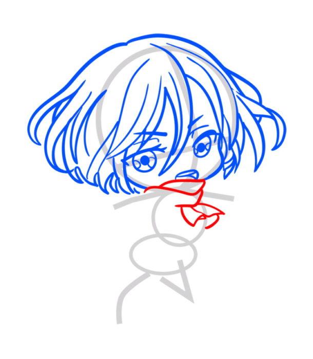 Как нарисовать Микасу из аниме 4