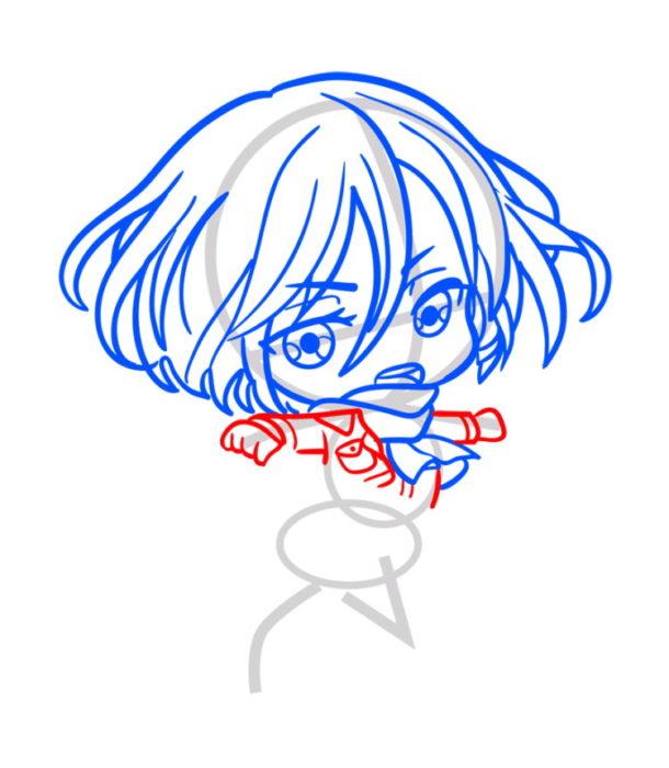 Как нарисовать Микасу из аниме 5