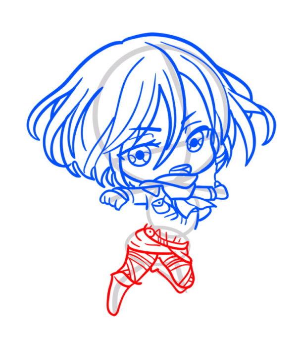Как нарисовать Микасу из аниме 6
