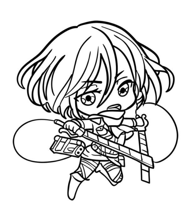 Как нарисовать Микасу из аниме 8