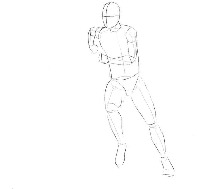 Как нарисовать нападающего в футболе 1