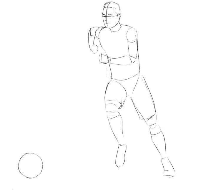Как нарисовать нападающего в футболе 2