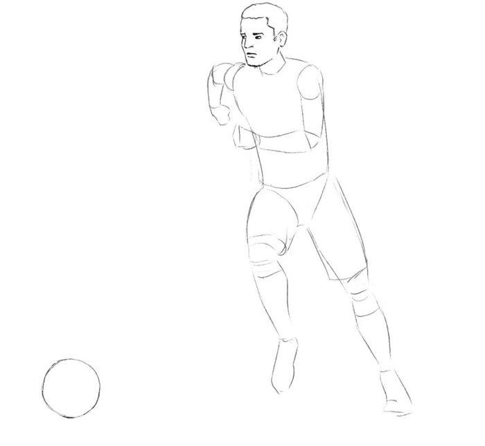 Как нарисовать нападающего в футболе 3