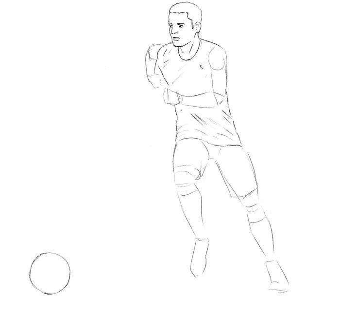 Как нарисовать нападающего в футболе 4