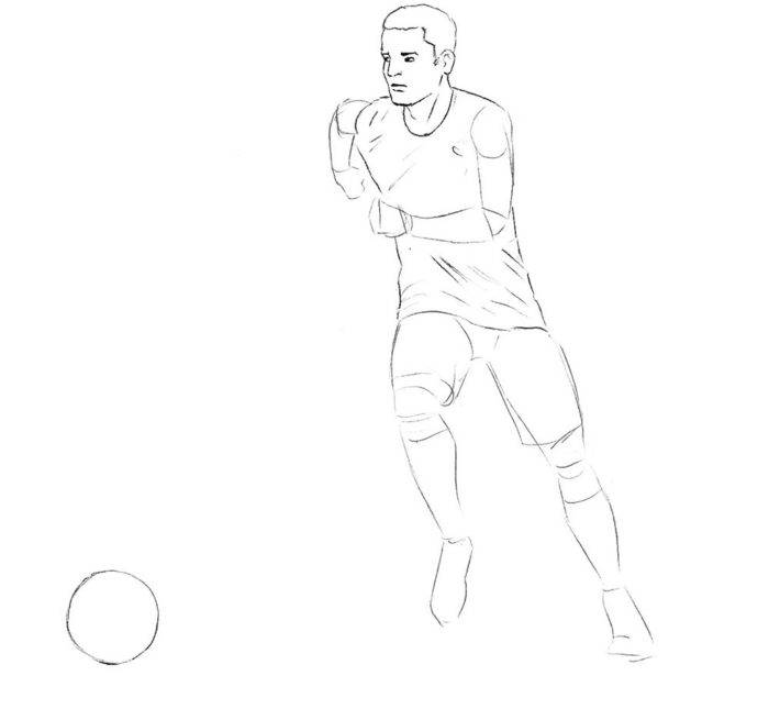 Нарисованные картинки карандашом футбол