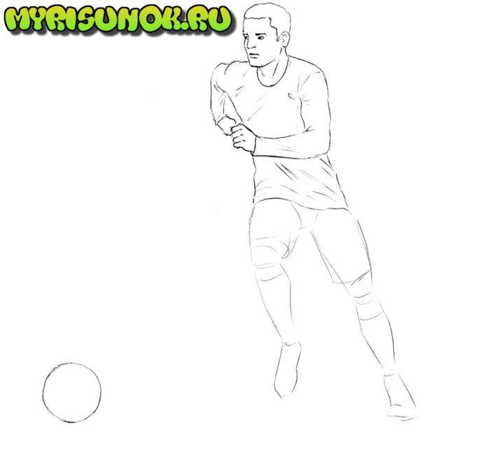 Как нарисовать нападающего в футболе 5