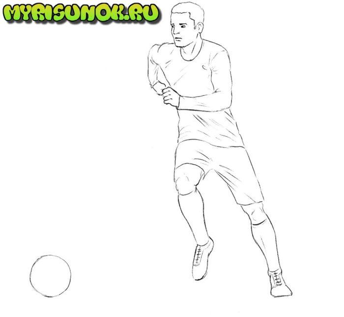 Как нарисовать нападающего в футболе 6