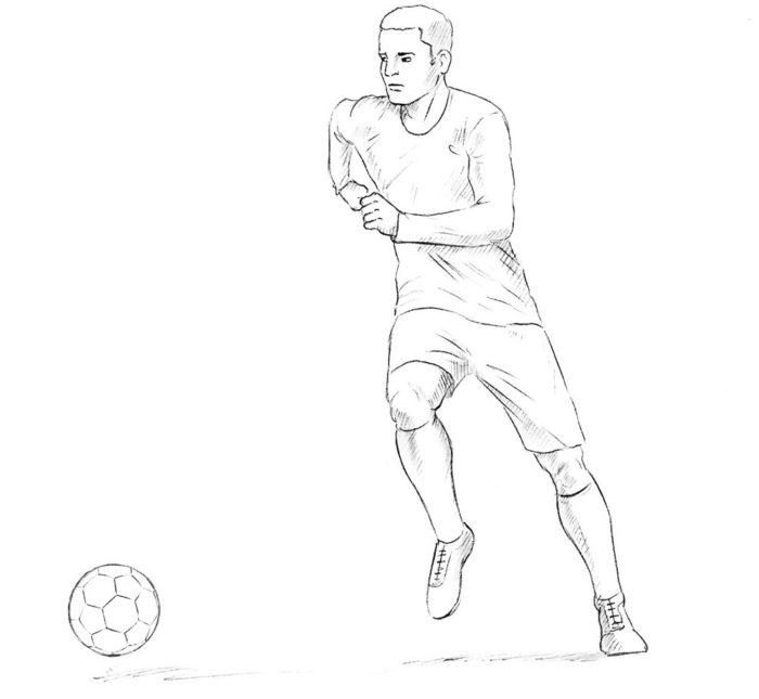 Как нарисовать нападающего в футболе 8