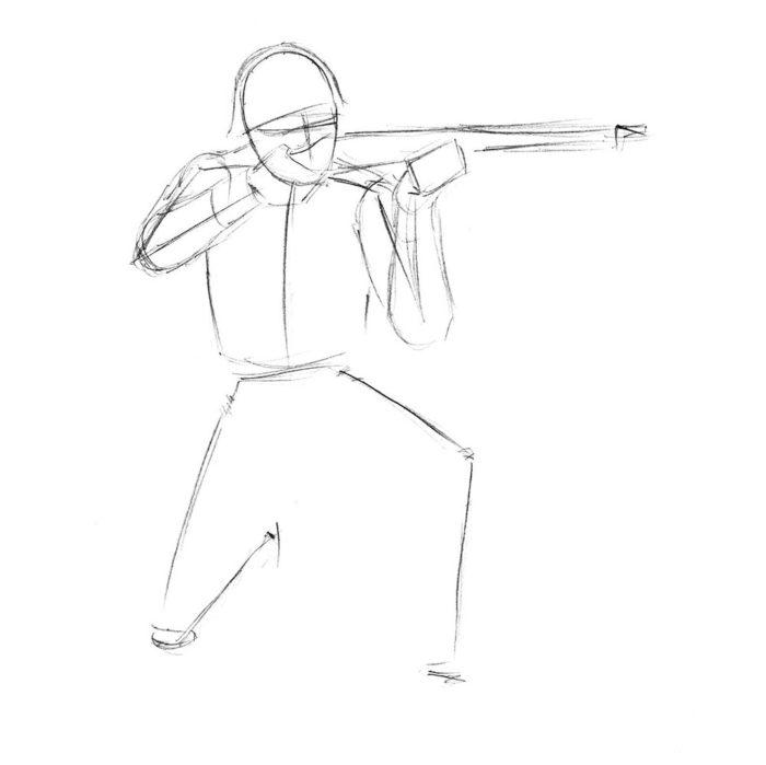 Как нарисовать советского солдата 3