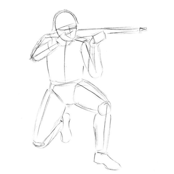Как нарисовать советского солдата 4