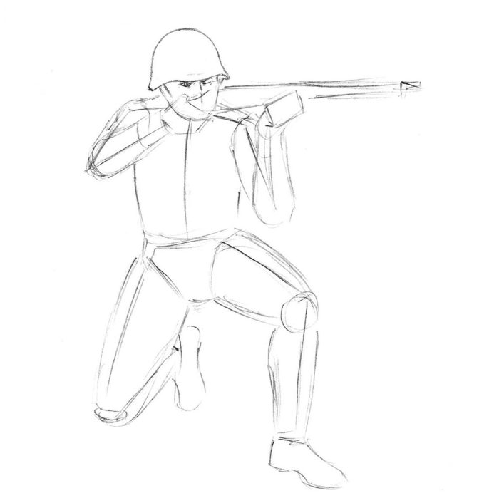 Как нарисовать советского солдата 5