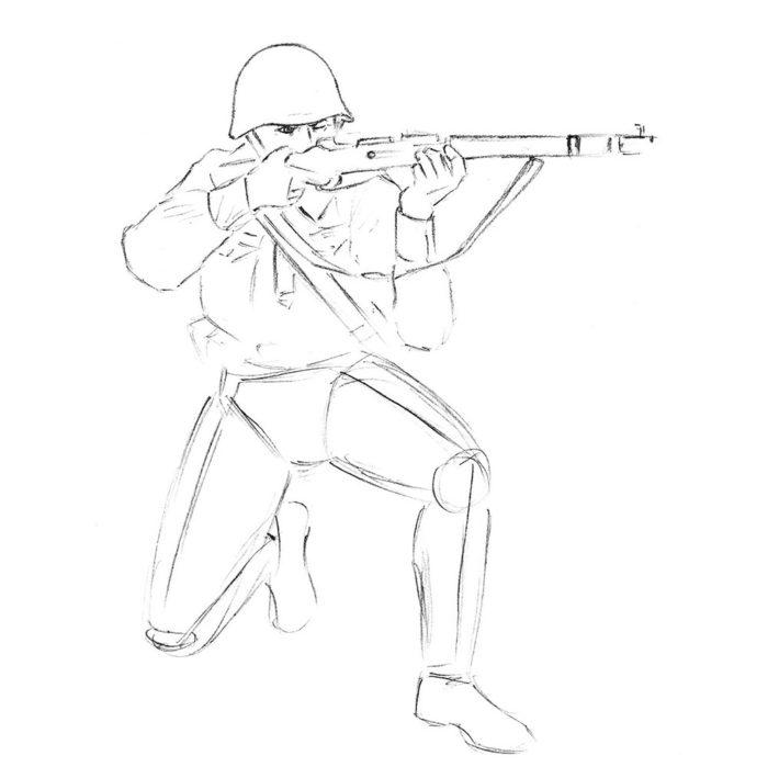 Как нарисовать советского солдата 6