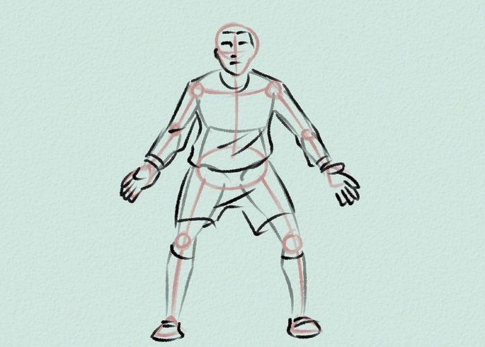 Как нарисовать голкипера 10
