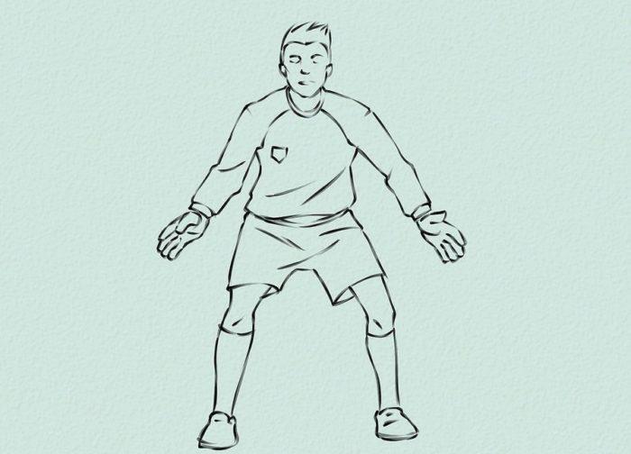 Как нарисовать голкипера 11