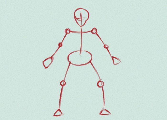 Как нарисовать голкипера 7