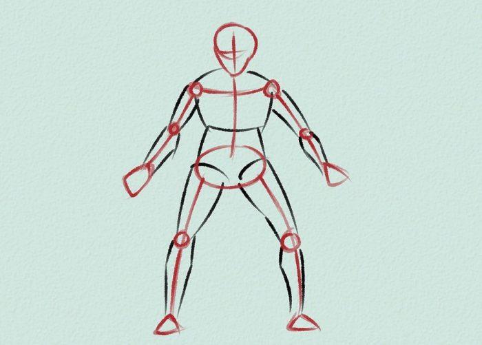 Как нарисовать голкипера 8