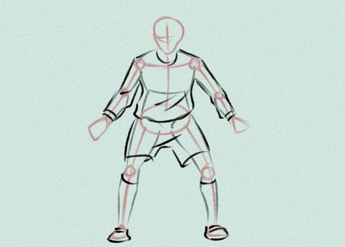 Как нарисовать голкипера 9