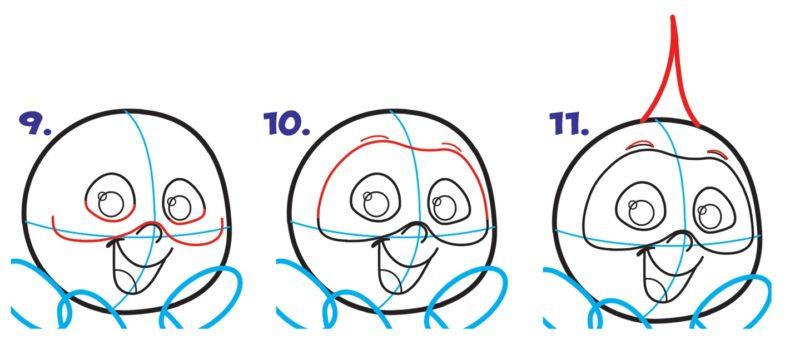 Как нарисовать Джек Джека 4