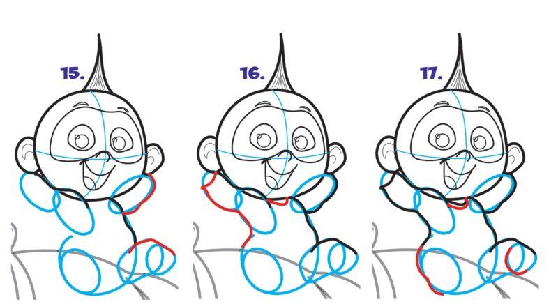 Как нарисовать Джек Джека 6