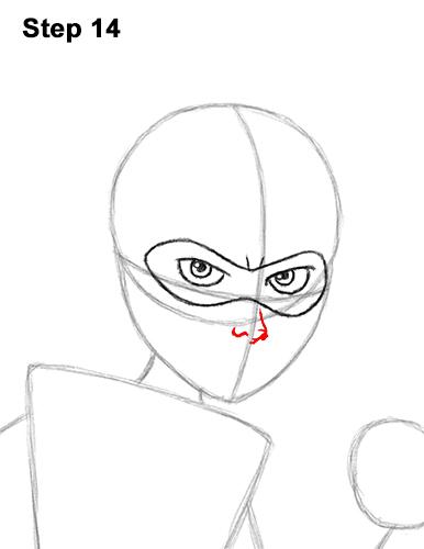 Как нарисовать Эластику 14