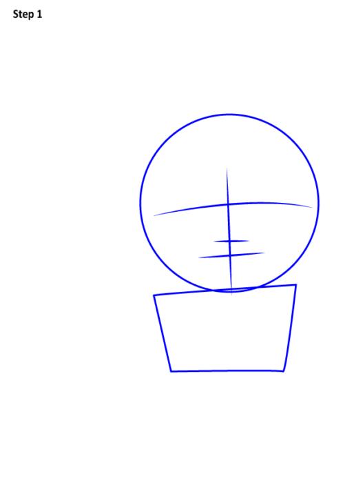 как поэтапно нарисовать Аквамена 1