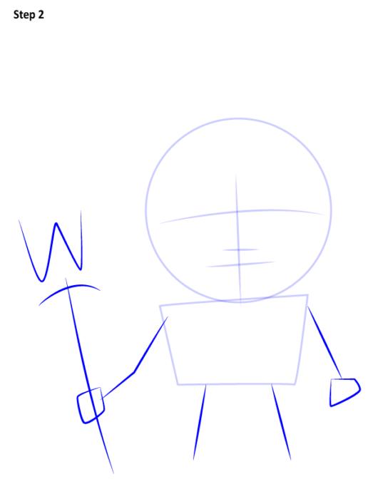как поэтапно нарисовать Аквамена 2