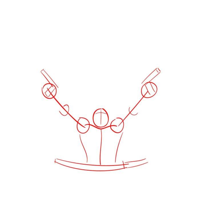 Как нарисовать Дедпула и Кейбла 1