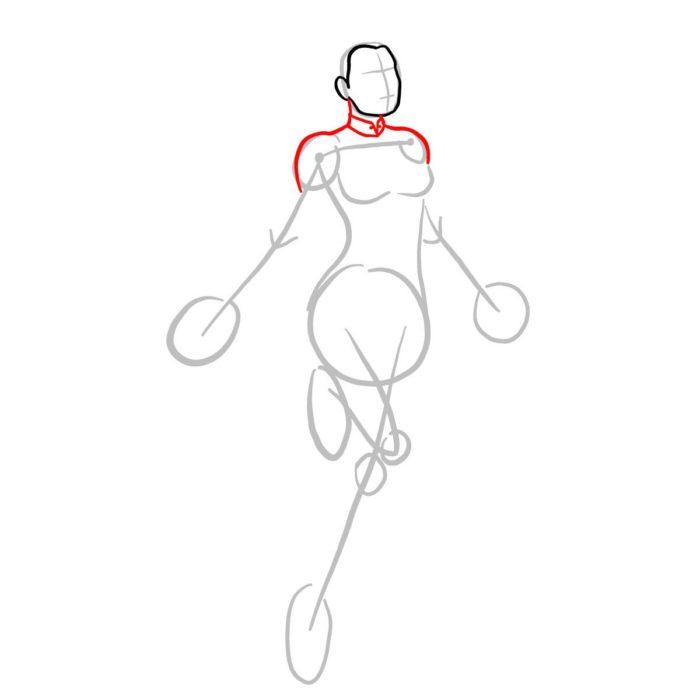Как нарисовать Капитана Марвел 3