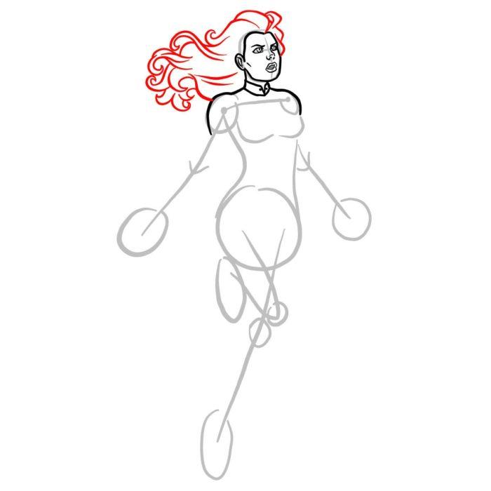 Как нарисовать Капитана Марвел 5