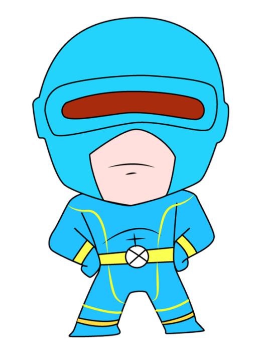 Рисуем Циклопа из комиксов 10