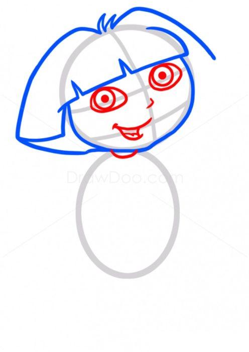 Как нарисовать Дашу путешественницу3