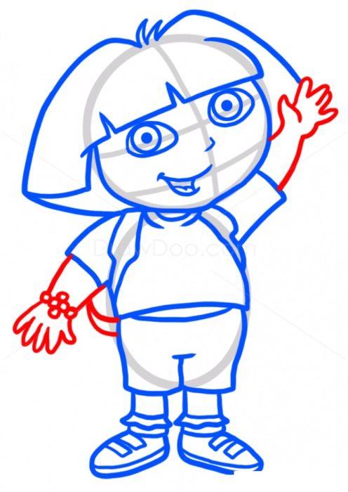 Как нарисовать Дашу путешественницу7