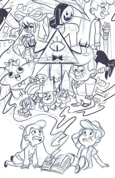 Срисовки Гравити Фолз 8